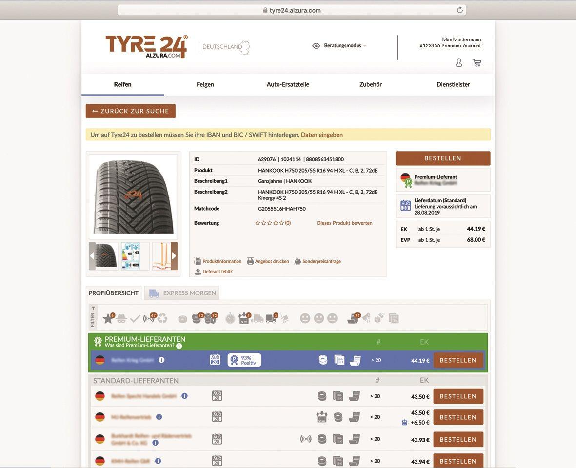 Premium-Lieferant Tyre24