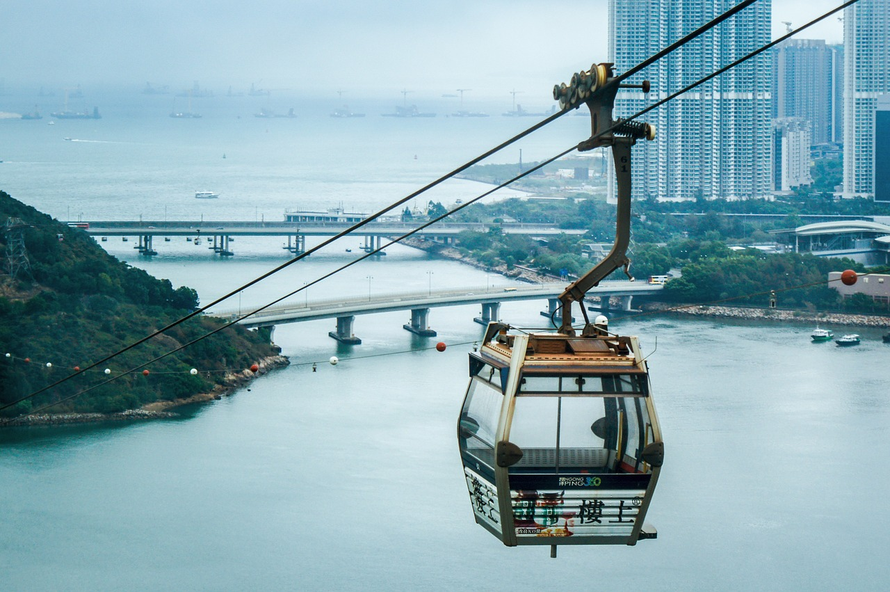 Seilbahn in Hongkong