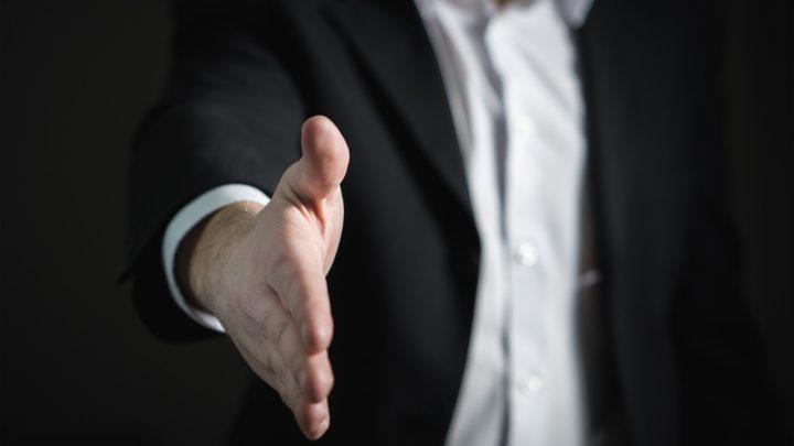 Handschlag Verkauf