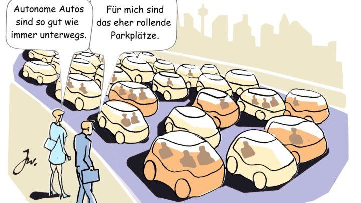 Autonomes Fahren löst Verkehrsprobleme in Innenstädten nicht